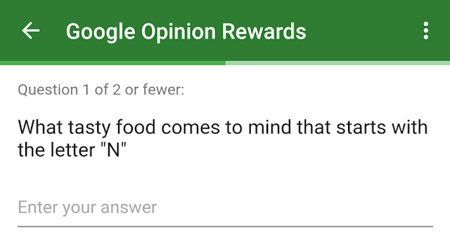 Google Opinion Rewards to Decide Android N Name : Give Your Suggestion
