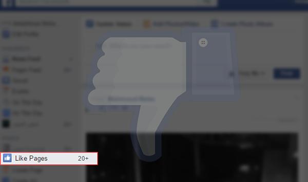 طريقة جديدة و سهلة لالغاء جميع اعجاباتك لصفحات الفيسبوك التي قمت بها