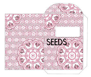 Seed packet with one color design.