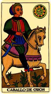 Tarot Marsella: Caballo de Oros