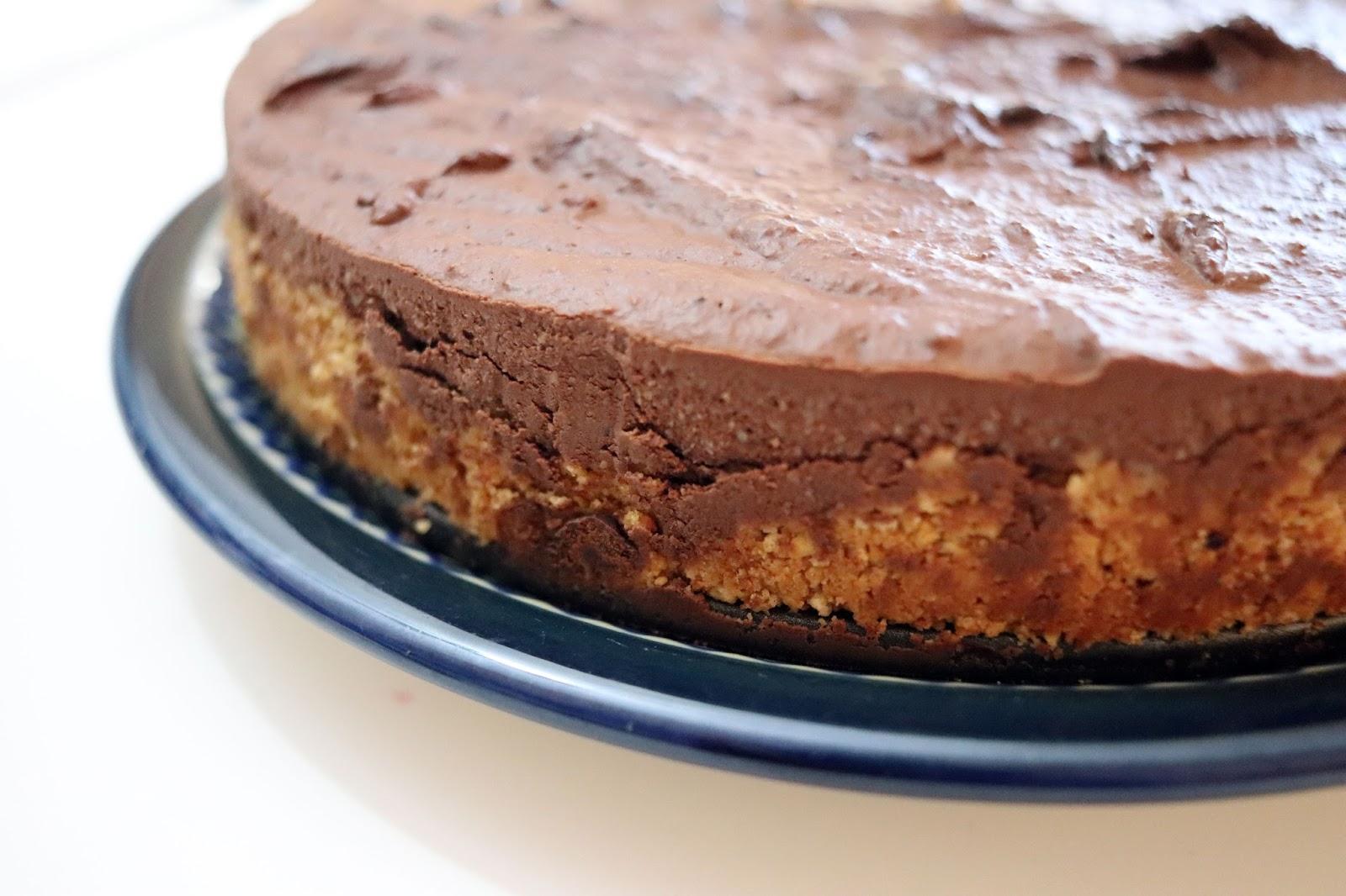 Vegan Dark Chocolate Tofu Cheesecake