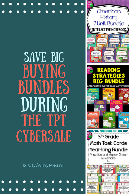 Buying bundles during the TPT sale can save more than 40% off the original prices!