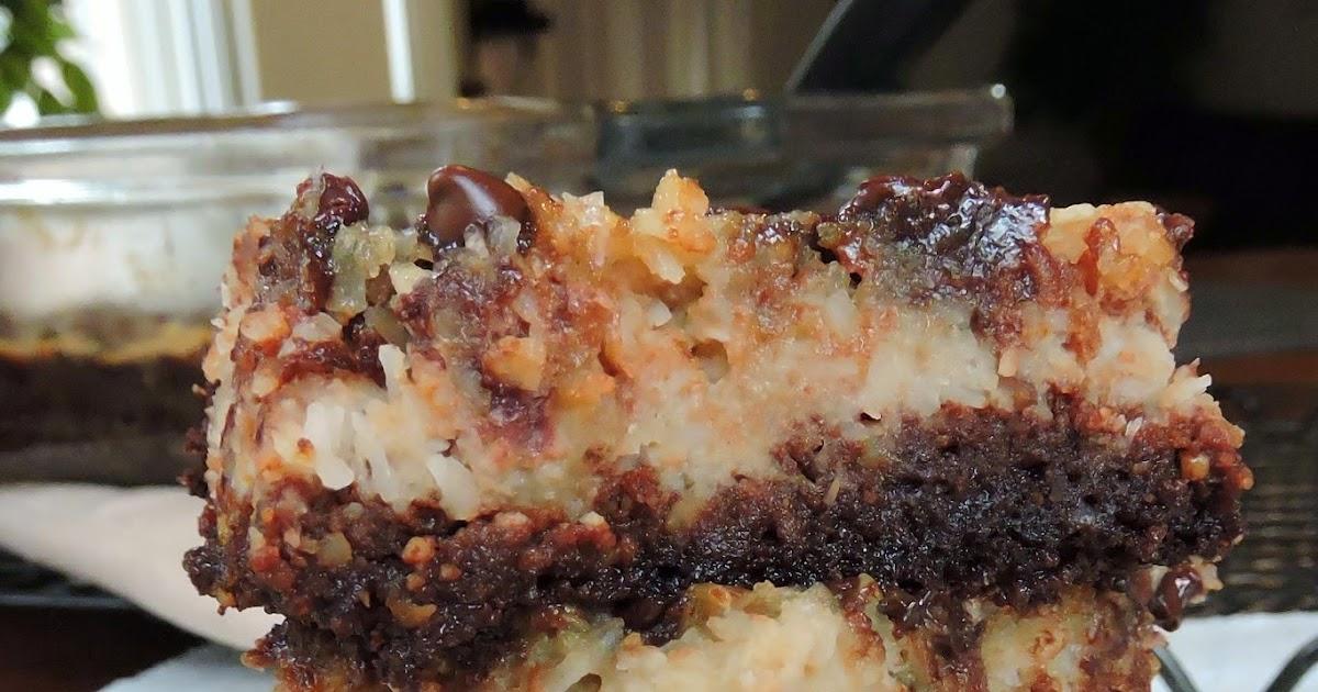 Just Jessie B German Chocolate Cake Bars Paleo