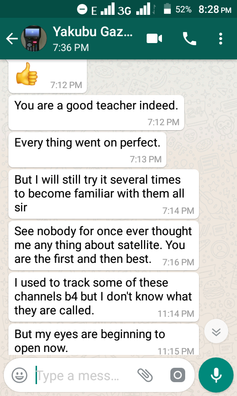 TESTIMONY OF SOME OF OUR STUDENTS