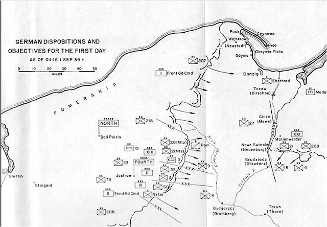 Disposition of forces on September 1