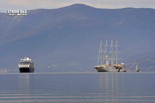 Δυο πολυτελή κρουαζιερόπλοια σημερα στο Ναύπλιο (βίντεο)
