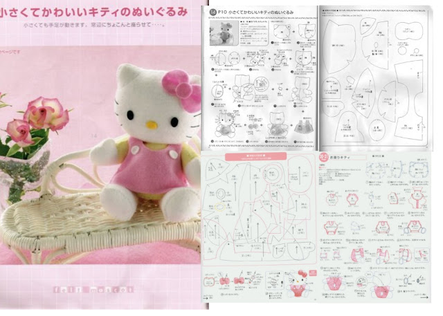 Hello Kitty peluche con moldes