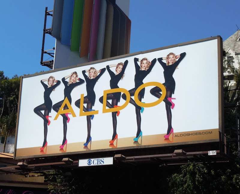Aldo Shoes Lily Donaldson billboard