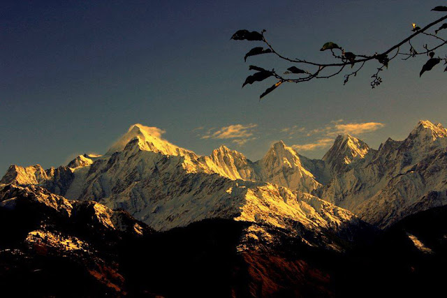 View of Panchachuli Peaks from Munsiyari