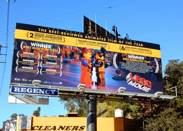 Lego Movie Award consideration billboard