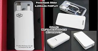 Barang Promosi Powerbank Slider 4.200mAh P42PL21, Power Bank Promosi, Souvenir Powerbank P42PL21, Power Bank Cetak Murah, Souvenir Power Bank Custom logo Perusahaan Murah, power bank portable charger untuk souvenir