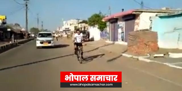 कलेक्टर नीरज सिंह फिर साइकिल पर निकल पड़े, इस बार 40 किलोमीटर चलाई | MP NEWS