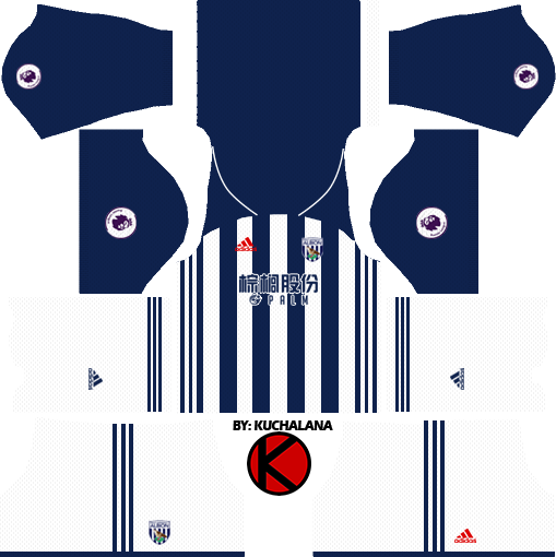 West Bromwich Albion F.C. Kits 2017/2018 - Dream League Soccer