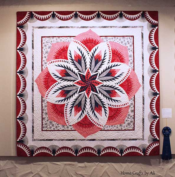 intricate quilt won ribbon at springville museum of art