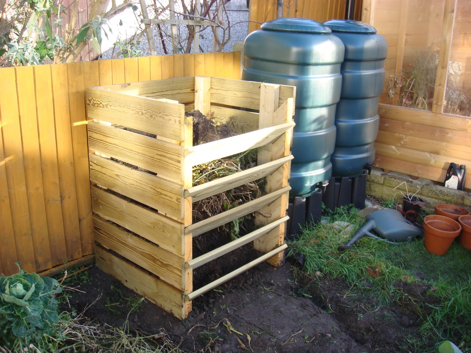 compost bin plans veg patch from scratch how to make your own wooden 28880