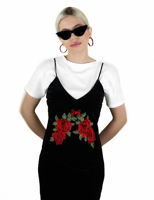 white tee slip dress