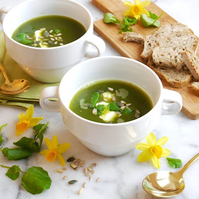 Gluten-Free Vegan Watercress Spring Soup