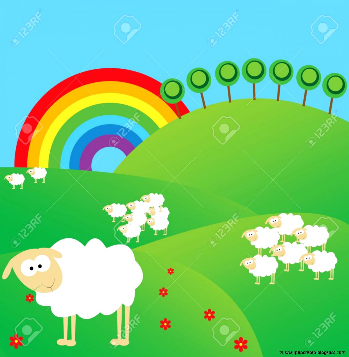 View Original Size Rainbow Cartoon Wallpaper Best Hd Wallpapers
