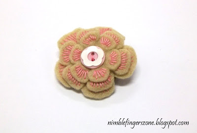 How To Make Felt Flower Brooch -- Nimble Fingers Zone