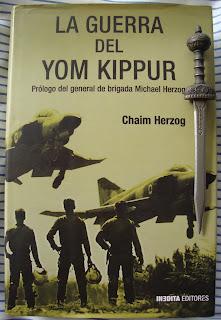 Portada del libro La guerra del Yom Kippur, de Chaim Herzog