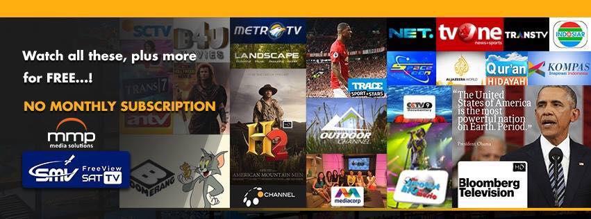 Inilah Daftar Channel Dari Provider MMP-SMV TV di Satelit ABS2
