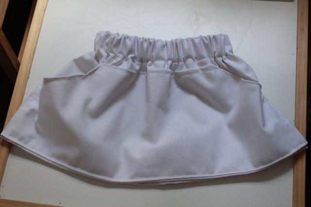 Falda de tela DIY niña 4 años