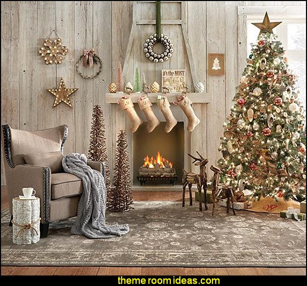 rustic living rooms christmas decorating