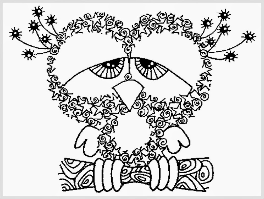 Owl Adult Free Printable Coloring Pages