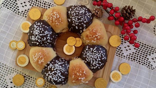 roscón reyes rosca navidad chocolate azúcar perlado sin relleno horno fácil bolitas tradicional
