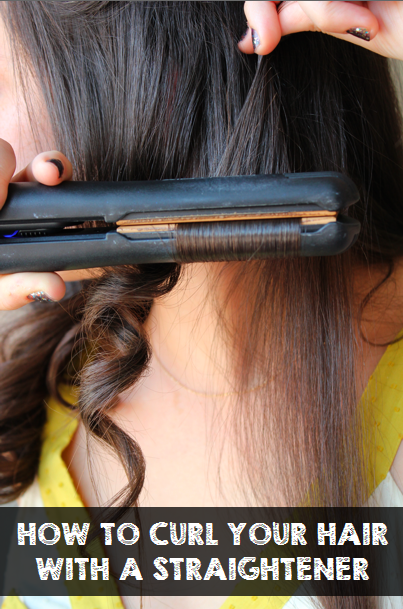 how to get large curls with a straightener