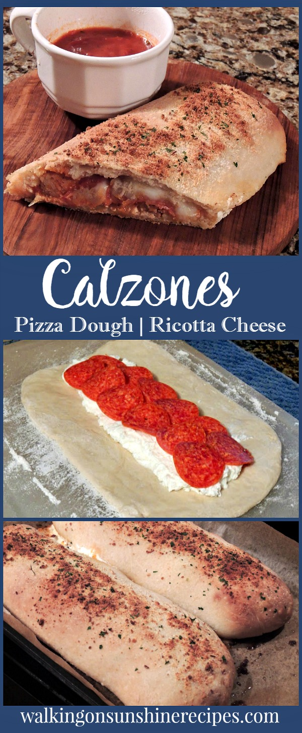 how to make homemade calzones with pizza dough