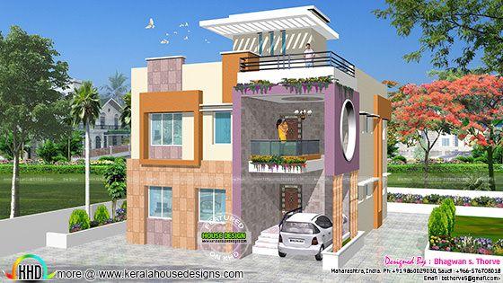 Modern duplex house achitecture