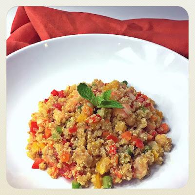 quinoa di mare con verdurine