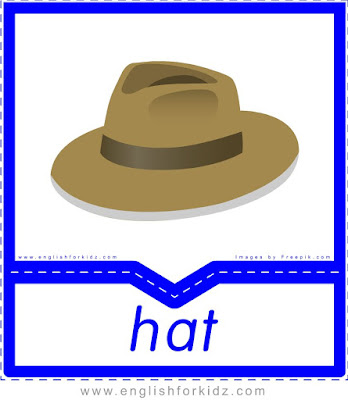 Hat - English clothes and accessories flashcards for ESL students