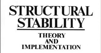 Structural Stability: Theory and Implementation