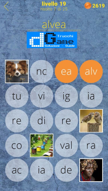 650 Parole soluzione livello 19 (1 - 25) | Parola e foto