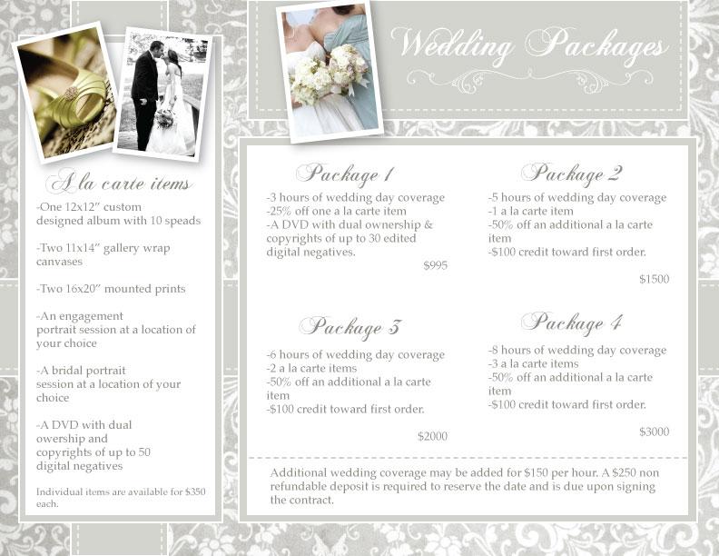 Wedding Photography Prices  5 FREE Wedding Photography