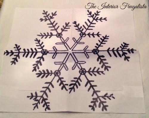 Snowflake graphic for DIY toss cushions