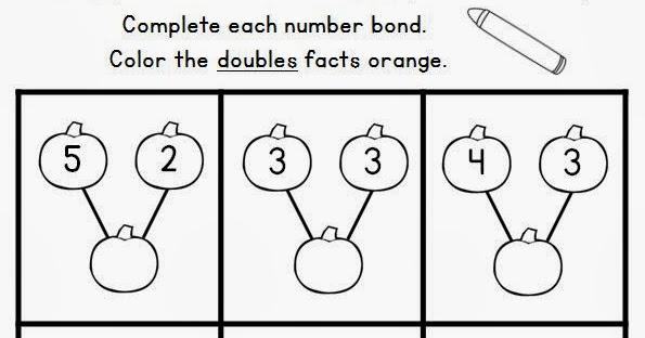 Classroom Freebies: Pumpkin Number Bond Fun