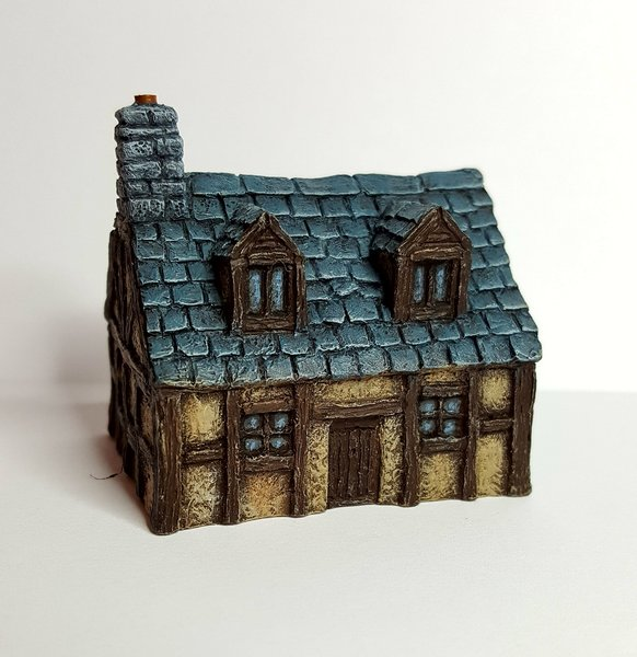 10mm Wargaming: Timber Framed Cottage with Dormer from Battlescale