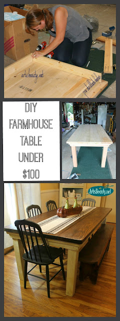 DY build it yourself farmhouse table for under $100