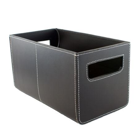 Smart Smart opbevaring: Flot opbevaring med denne her sorte læder boks TX51