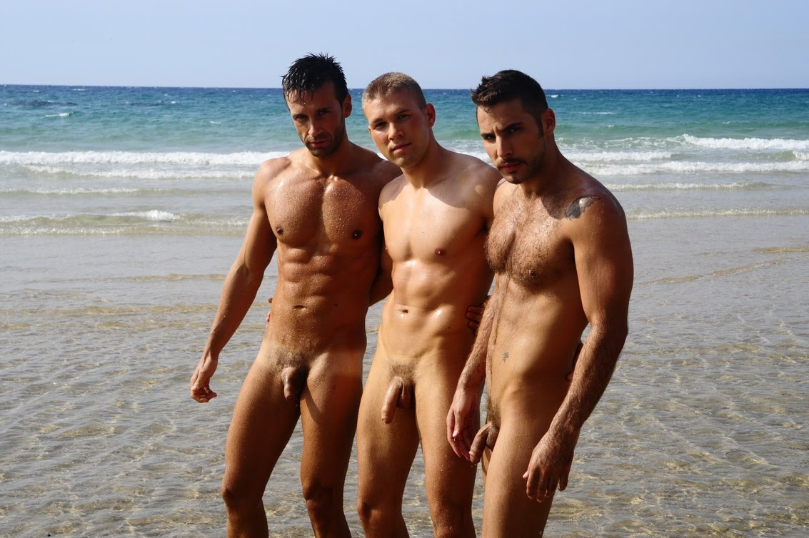 nude men at the beach