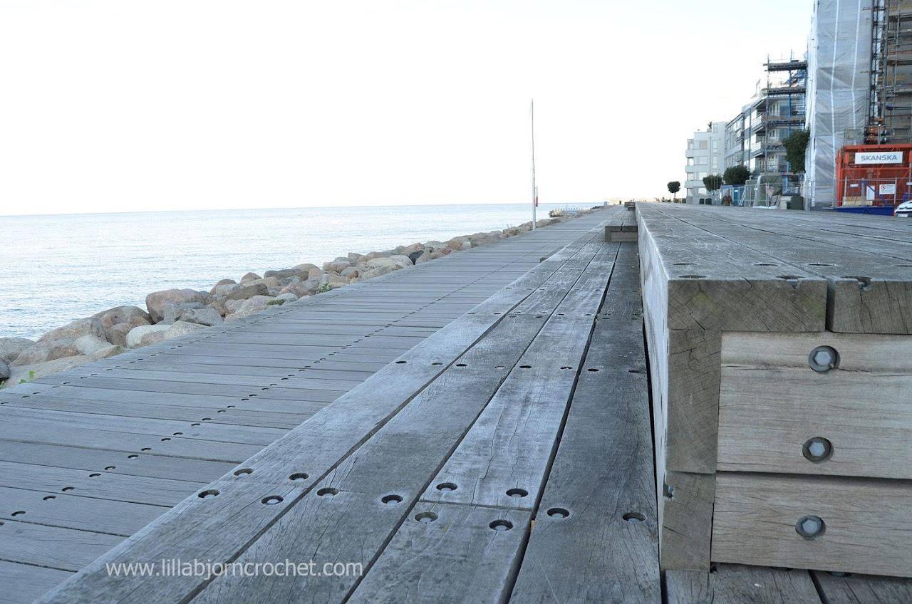 Wooden beach in Malmö