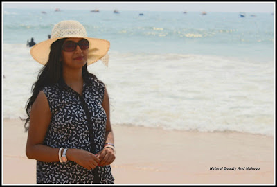 blogger anamika at calangute beach