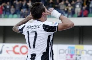 Chievo Juventus 1 2 gol Mandzukic