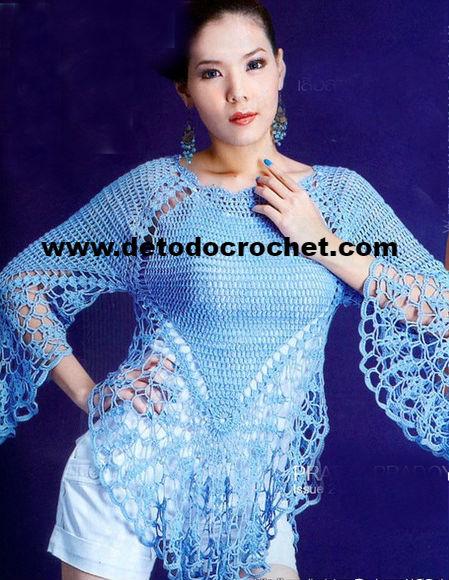 esquemas-crochet-blusa-mangas-redondas