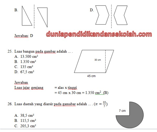 Kunci Jawaban Soal Matematika Sd Paket Satu