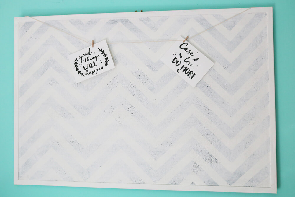 DIY Chevron Noticeboard Tutorial | Hungry Little Bear