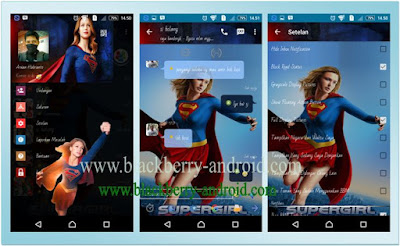 BBM MOD SuperGirl Themes New V.2.12.0.11 APK